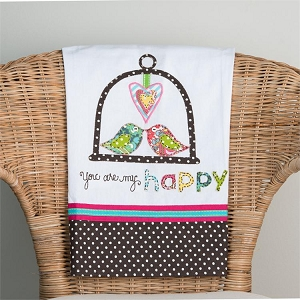 You Are My Happy' Tea Towel