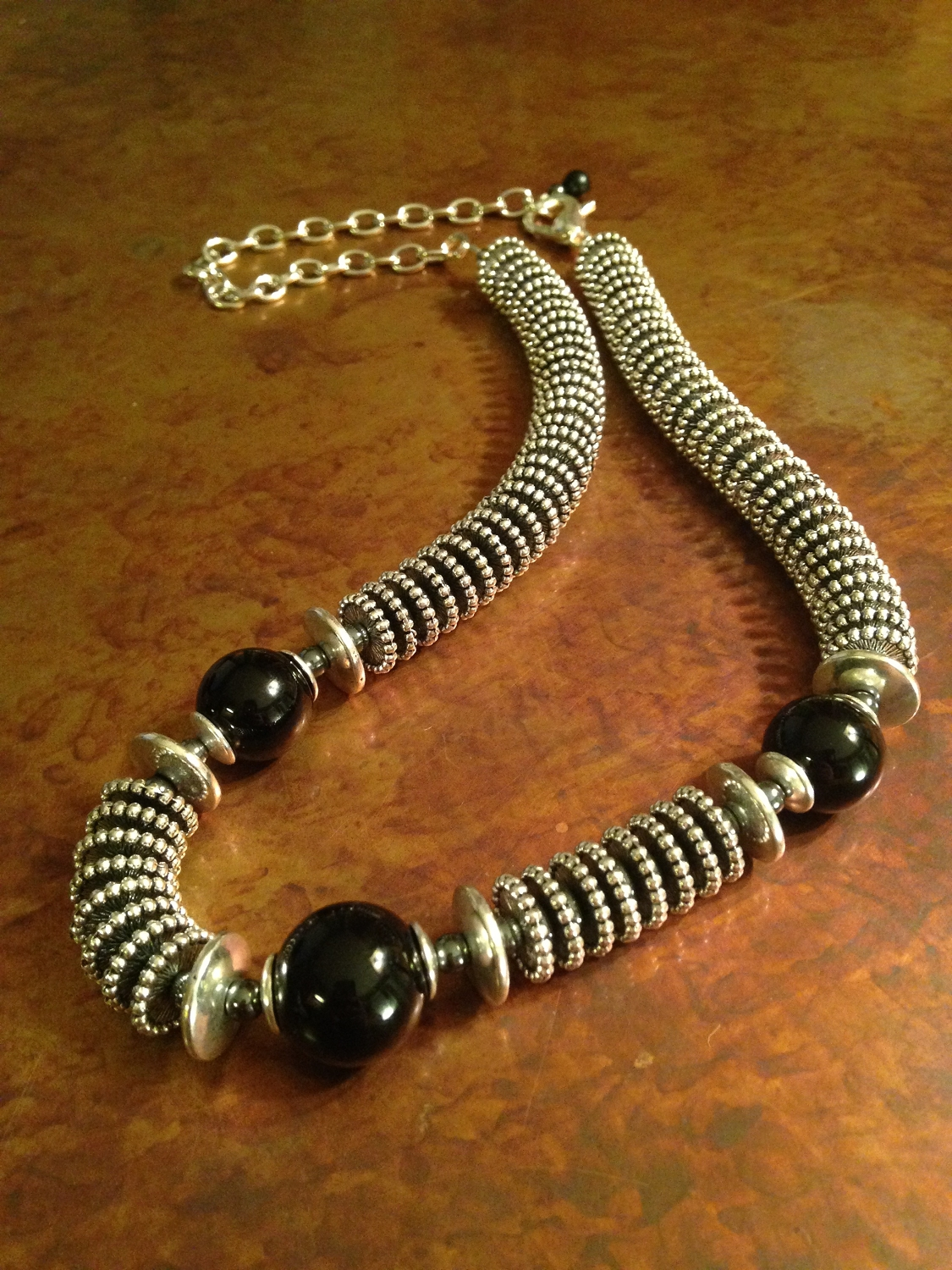 Onyx & Steel Necklace