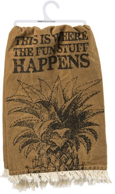 Fun Stuff Happens' Dish Towel