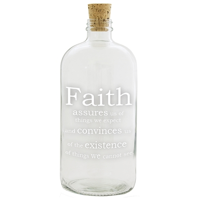 Faith Apothecary Jar