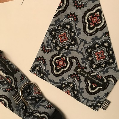 Dusty Blue Detachable Bandana -  Large  (collar sold separately)