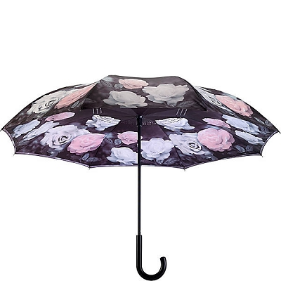 Vintage Roses Reverse-Close Umbrella