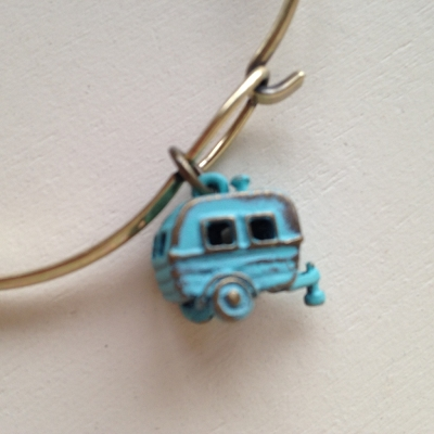 Camper Charm Bracelet in Turquoise