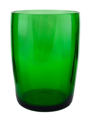 Upcycled Oversized Emerald Glass Tumbler