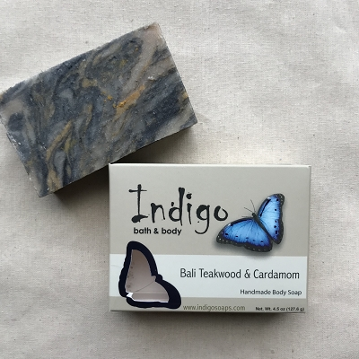 Bali Teakwood and Cardamom Face and Body Soap