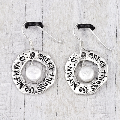 'Great Things Lie Within' Earrings