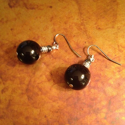 Onyx Sphere Earrings