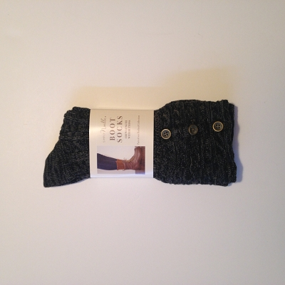 Cable Boot Sock Black