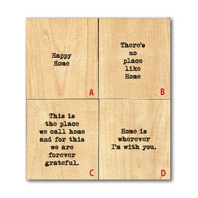 There's No Place Like Home' Wood Tile Magnet