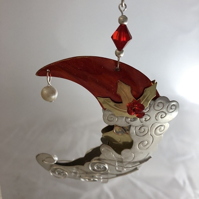 Santa Moon Ornament