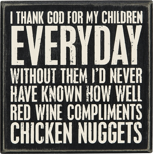 Wine and Nuggets' Box Sign