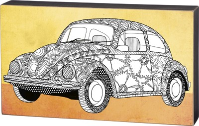 'VW Bug' Coloring Sign