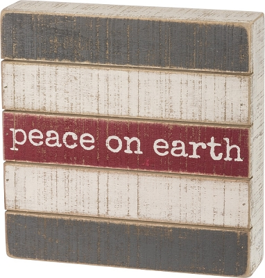 Peace Slatted Box Sign