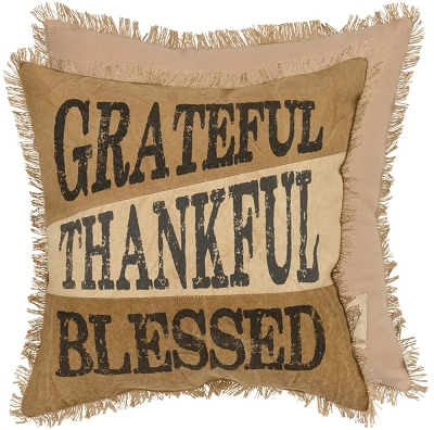 Thankful Canvas Pillow
