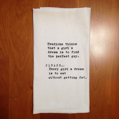 A Girl's Dream Dish Towel