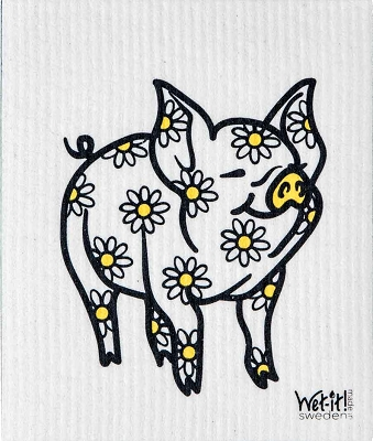 Daisy Pig Swedish Cloth
