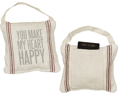 You Make My Heart Happy Mini Pillow