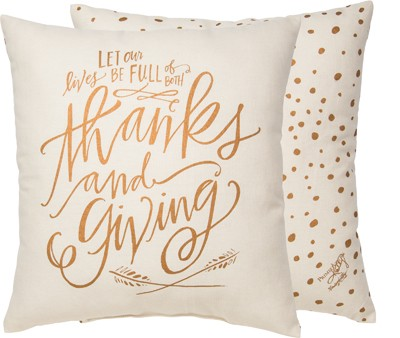 Thanks and Giving Pillow