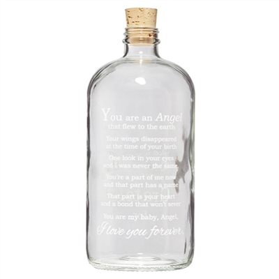 Angel Baby Apothecary Jar Clear