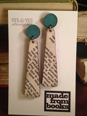Text Duo Paddle Earrings