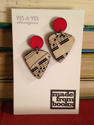 Music Guitar Duo Earrings