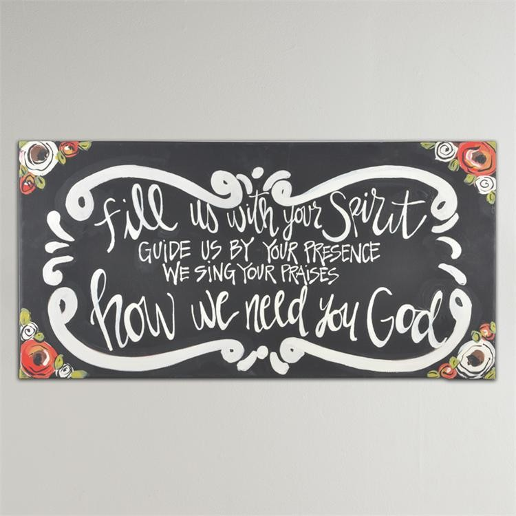 Fill Us with Your Spirit' Canvas Print