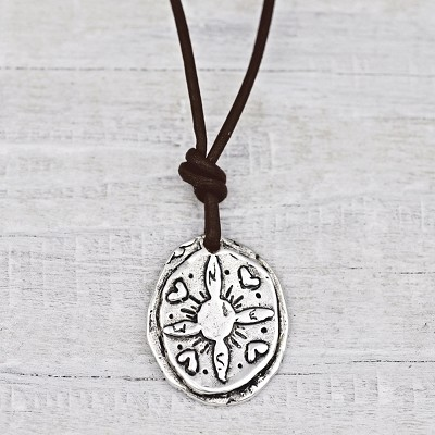 'Not All Who Wander Are Lost' Silver-Plate Necklace