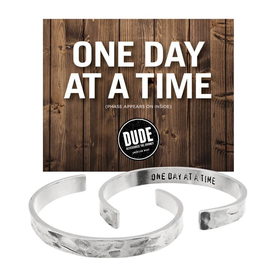 One Day At A Time Recycled Pewter Bracelet